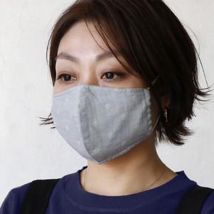 オーガニックコットンドットプリントマスク