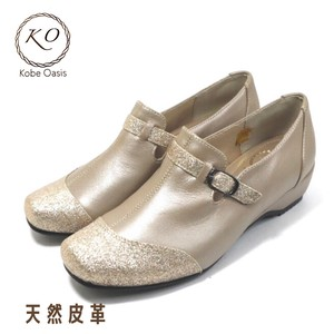 Natural Leather Glitter Genuine Leather Comfortable Shoe