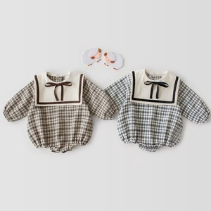 Korea Baby Ribbon Sailor Rompers Che Scandinavia S/S A/W One-piece Dress