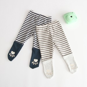 Korea Baby Border Cat Paw Tights Leggings S/S A/W Scandinavia