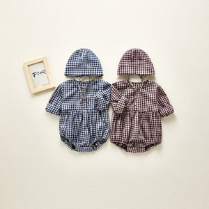Korea Baby Checkered Rompers Net Hats & Cap S/S A/W Gingham Scandinavia