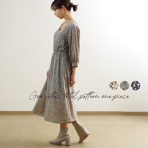 [2021 New Product] Geometric Repeating Pattern One-piece Dress mitis