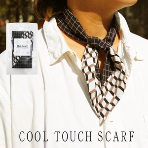 Antibacterial Deodorization Checkered Geometric Design Sheet Attached Scarf