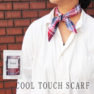 Antibacterial Deodorization Checkered Sheet Attached Scarf