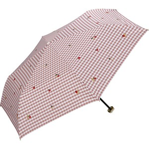 Sunshade Folding Umbrella Light Shielding Gingham Fruit