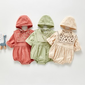 Korea Baby Net Attached Botanical Rompers Hats & Cap S/S A/W