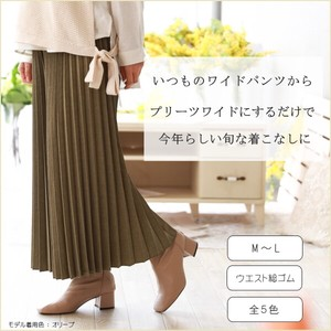 20 Spring Items Pleats wide pants