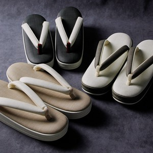 Kasuri Bi-Color Japanese Sandals