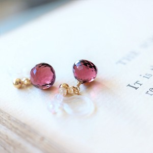 Natural stone Quartz Hall Earring