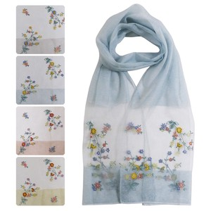 [2021 New Product] 20 S/S Stole Floral Pattern Embroidery Stole