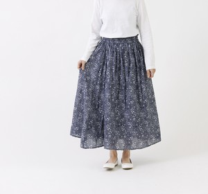 [2021 New Product] Long Floral Pattern Gather Skirt
