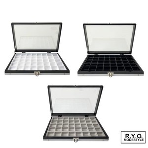 Natural stone Loose Case Aluminium Glass Case Storage 30mm Square