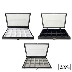 Natural stone Loose Case Aluminium Glass Case Storage 50mm