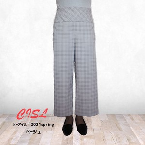 20 Shell Plus Checkered wide pants