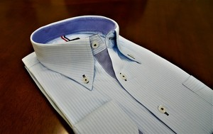 Dobby Dress Shirt Blue SUN