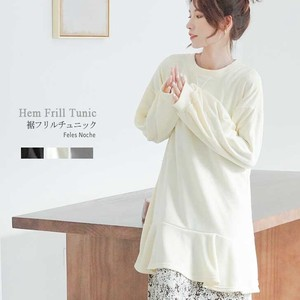 Frill Tunic Fleece Cut And Sewn Frill Prenatal 3 Colors
