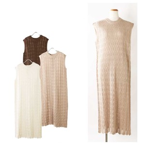 S/S Bag Sleeveless Watermark Knitted One-piece Dress