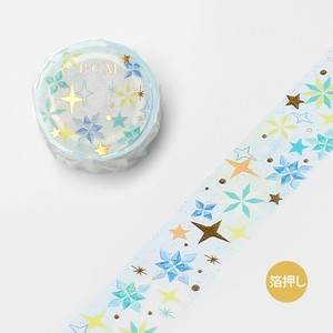 20 [BGM] Washi Tape  / Masking Tape Ink Star 20mm*5m