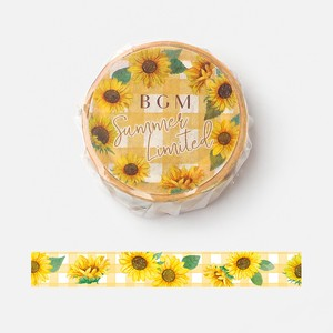 20 Washi Tape 20 Checkered Sunflower