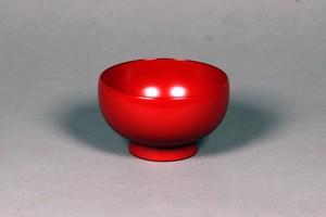 輪島塗汁椀 (胴張型 本朱)