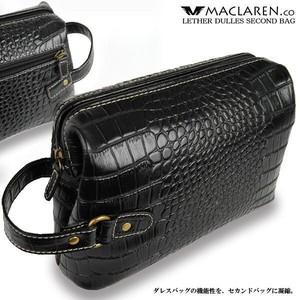 軽量ソフトレザークロコダイル型押し牛革ダレスセカンドバッグ AN-1002K【MACLAREN.co】/人気商品/売れ筋