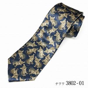 Dog pattern tie「チワワ」ネクタイ