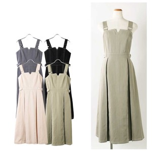 S/S Pleats Cotton Twill One-piece Dress