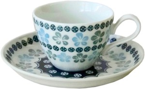 Pottery Field Blue Flower Coffee Plate Made in Japan made Japan
