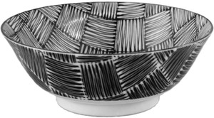 Checkered Noodles Bowl Made in Japan made Japan