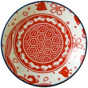 Plate Red Made in Japan made Japan