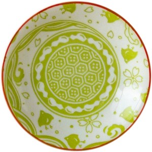 Plate Green Made in Japan made Japan