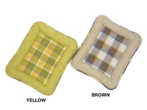 Madras Checkered Tweed Pet Mat for Cat
