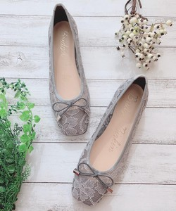 Bird Square Lace Ballet Pumps