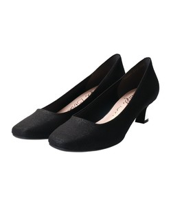 Bird Square Plating Heel Pumps