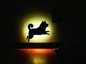 Shiba Dog Wall LED Light Made in Japan
