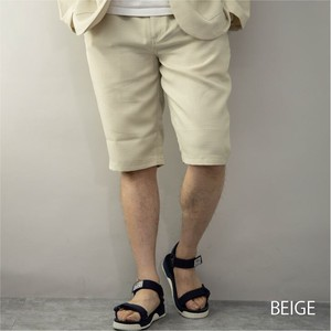 [2021 New Product] Shor Pants Men's Suit Set Fake Linen Half Pants Shorts