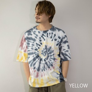 [2021 New Product] T-shirt Men's Short Sleeve Dyeing Big Silhouette T-shirt Big Over