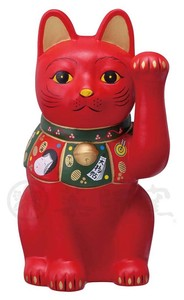 Ornament Kinsai Beckoning cat The Left Hand Size 5