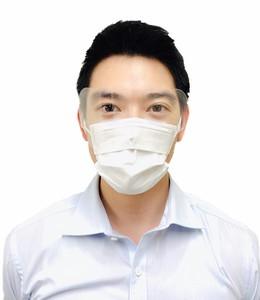 マスクに装着できるアイシールド「簡易版フェイスシールド」