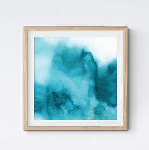 Square Poster Watercolor Scandinavia Modern