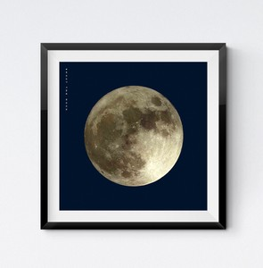 Square Poster YELLOW Scandinavia Full Moon