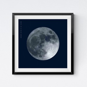 Square Poster Blue Scandinavia Full Moon