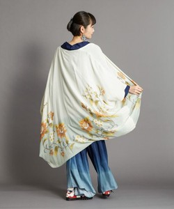 [2021 New Product] Flower Long-Sleeved Kimono Cape Long Cardigan