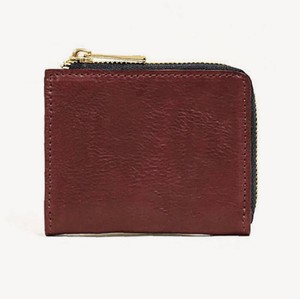 Tochigi Leather Fastener Compact Wallet Cow Leather Men's Ladies Bordeaux