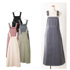 S/S Color Scheme Overall Twill One-piece Dress