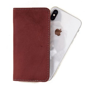 Tochigi Leather Notebook Type Smartphone Case Men's Ladies Bordeaux