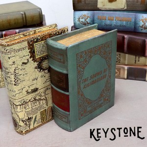 Stone Antique Look Tea Box Interior Ornament Accessory Case