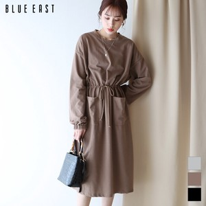 [2021 New Product] Drawstring Pocket Sweat One-piece Dress