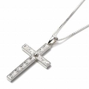 ブランド STYLE ON STAGE クロス 十字架 シルバー925ネックレス ベネチアンチェーン付