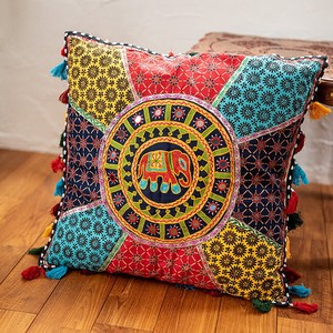 Attached Mirror Large Embroidery Square Cushion Cover